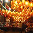 More lanterns, more cars on sidewalks